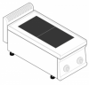 Плита 2 конфорочная 700 серии Tecnoinox PCU35E7 616090