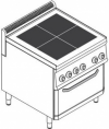 Плита 4 конфорочная 700 серии Tecnoinox PFU70E7 616100